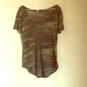 Altar'd State Camo Tunic Pocket Tee